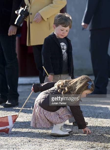Princess Isabella And Prince Christian Of Denmark At The Morning Assembly At Fredensborg Palace On Queen Margrethe Of Denmarks 70Th Birthday...
