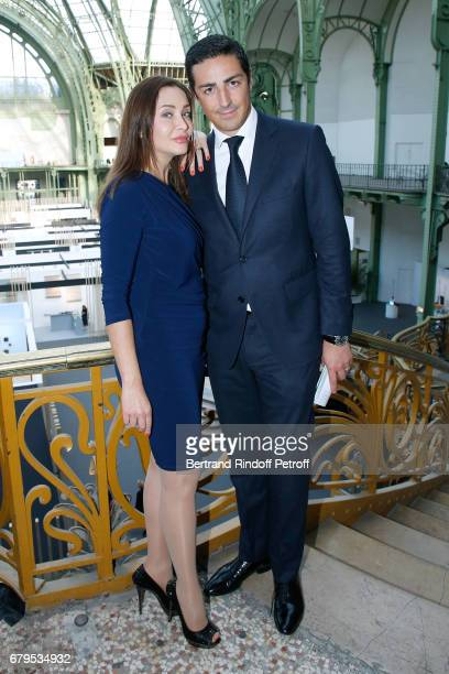 Princess Isabella de Ligne La Tremoille and Prince Edouard de Ligne La Tremoille attend the 'Revelations' Fair at Balcon d'Honneur du Grand Palais on...