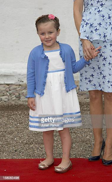 Princess Isabella Of Denmark Arrives For The Christening And Naming Ceremony Of Princess Athena In The Church Of Mogeltonder Denmark