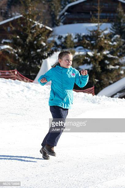 Princess Isabella of Denmark attends a Photocall during her annual Ski holiday on February 8 2015 in Verbier Switzerland