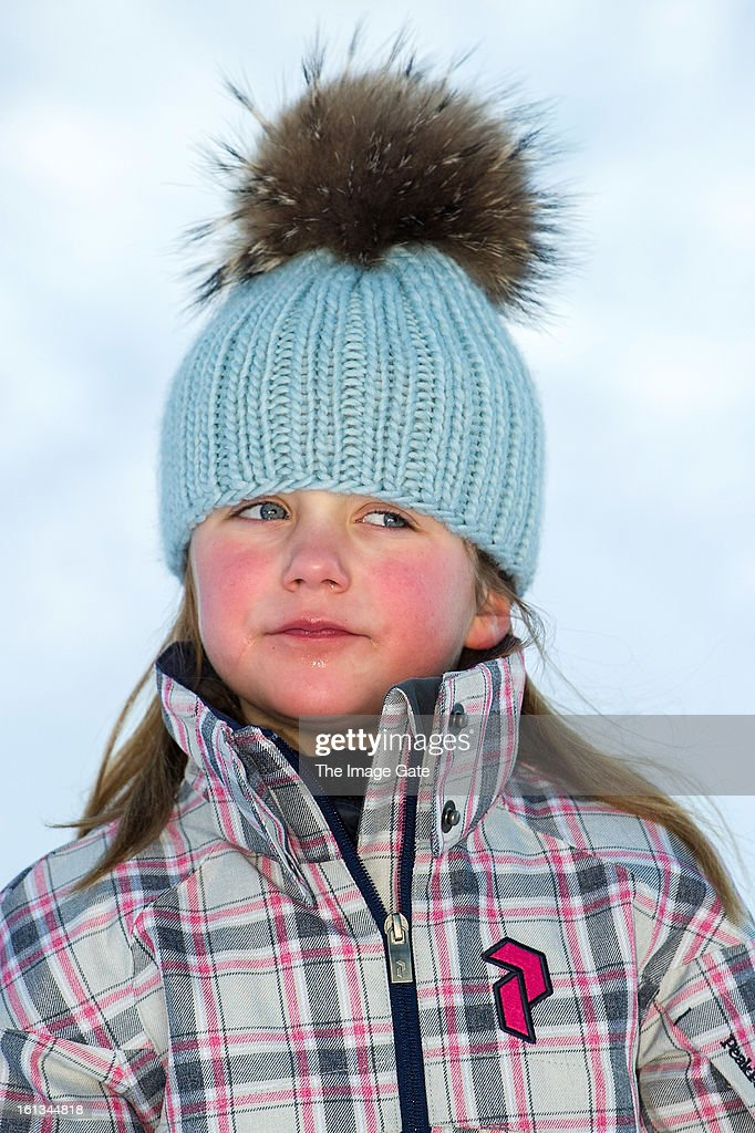 Princess Isabella of Denmark meets the press, whilst on skiing holiday on February 10, 2013 in Verbier, Switzerland.