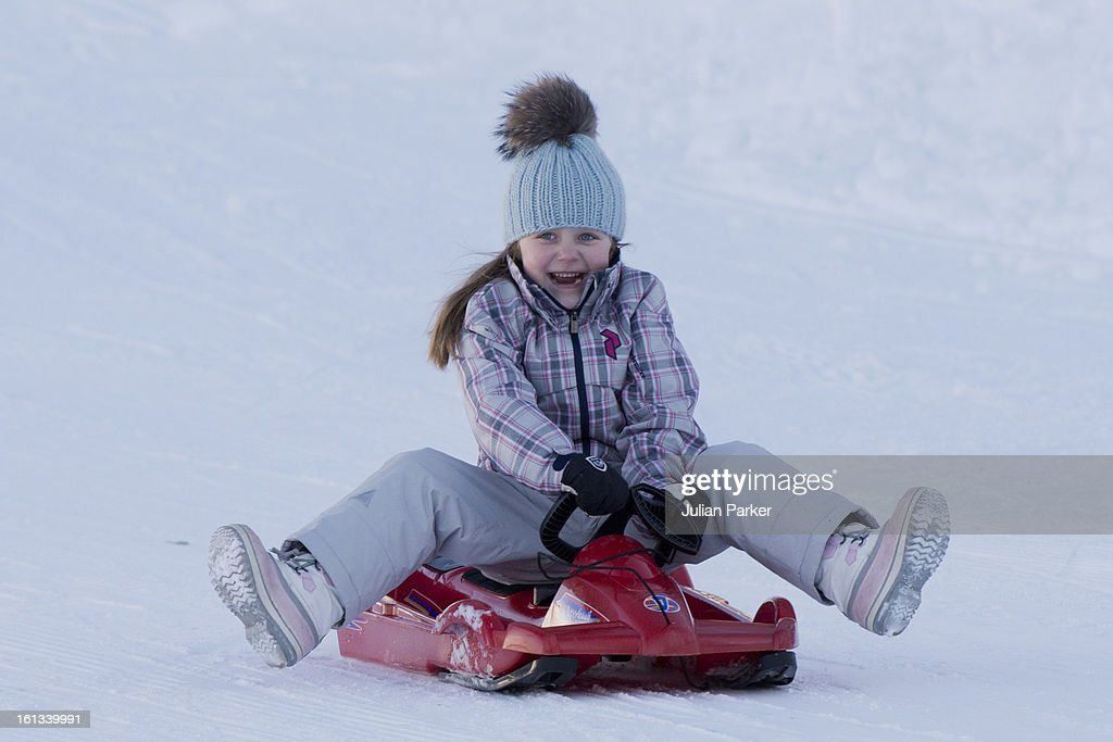 Princess Isabella of Denmark poses for photographs on her annual skiing holiday on February 10, 2013 in Verbier, Switzerland.