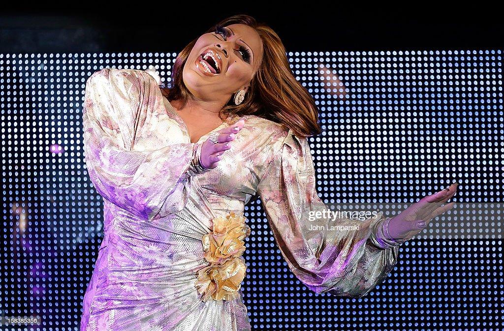 Princess Janay performs at Sahara Davenport Public Memorial Serviceat at the XL Nightclub on December 14, 2012 in New York City.