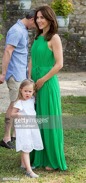 Princess Josephine of Denmark and Crown Princess Mary of Denmark attending a Photocall at Chateau de Cayx on June 11 2014 in Luzech France