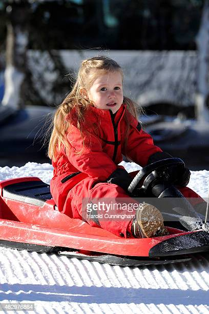 Princess Josephine of Denmark attends the Danish Royal family annual skiing photocall whilst on holiday on February 8 2015 in Verbier Switzerland