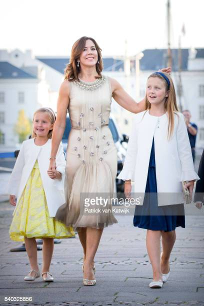 Princess Josephine of Denmark Crown princess Mary of Denmark Prince Vincent of Denmark and Prince Christian of Denmark attend the 18th birthday...