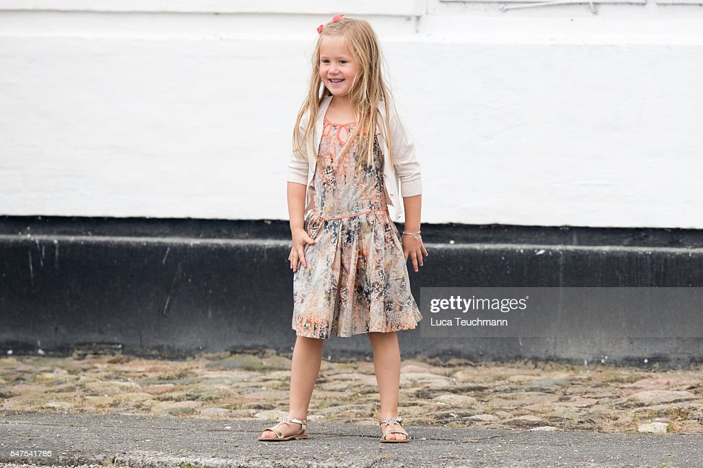 Princess Josephine of Denmark is seen during the annual summer photo call for The Danish Royal Family at Grasten Castle on July 25, 2015 in Grasten, Denmark
