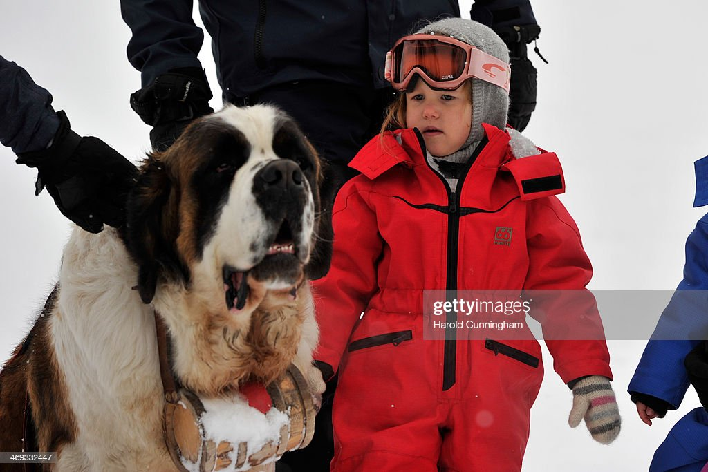 Princess Josephine of Denmark meets the press, whilst on skiing holiday on February 14, 2014 in Verbier, Switzerland.