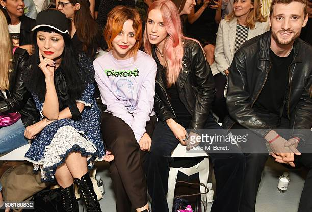 Princess Julia Billie JD Porter Mary Charteris and George Barnett attend the Ashley Williams runway show during London Fashion Week Spring/Summer...