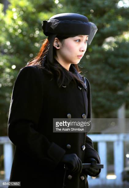 Princess Kako of Akishino attends the 100th anniversary memorial for late Prince Mikasa at Toshimagaoka Cemetery on February 3 2017 in Tokyo Japan