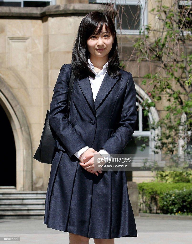 Princess Kako of Akishino poses for photographs before attending Gakushuin University entering ceremony on April 8, 2013 in Tokyo, Japan.