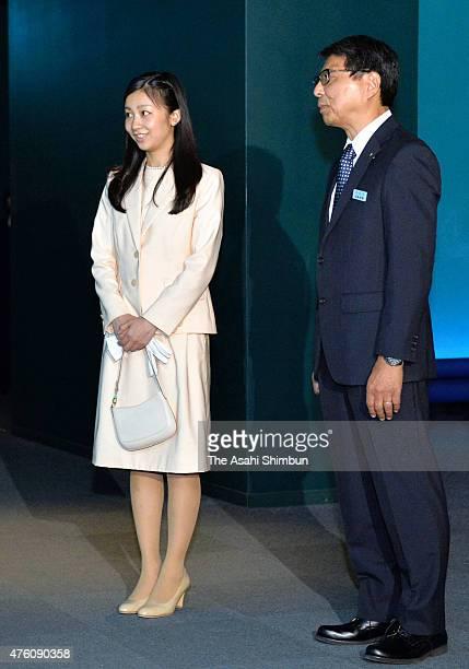 Princess Kako of Akishino visits the Shimonoseki Marine Science Museum 'Kaikyokan' on June 6 2015 in Shimonoseki Yamaguchi Japan It is the princess'...