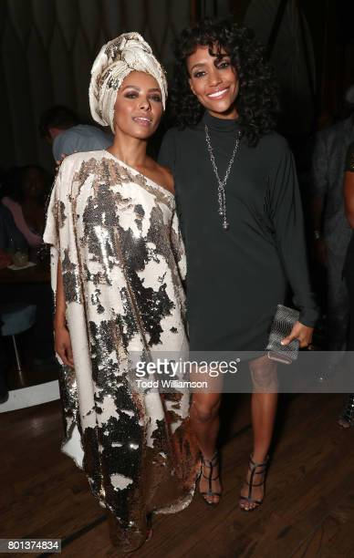 Princess Kat Graham and Annie Ilonzeh attend a Love Music Funk Jam hosted by Kat Graham at The Peppermint Club on June 25 2017 in Los Angeles...