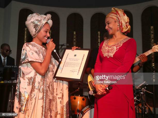 Princess Kat Graham is proclaimed a Princess by the Democratic Republic of the Congo announced by Princess Modupe Ozulua at a Love Music Funk Jam...
