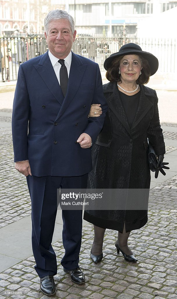 Princess Katherine of Serbia and Prince Alexander ll of Serbia attend a memorial service for Sir David Frost at Westminster Abbey on March 13, 2014 in London, England.