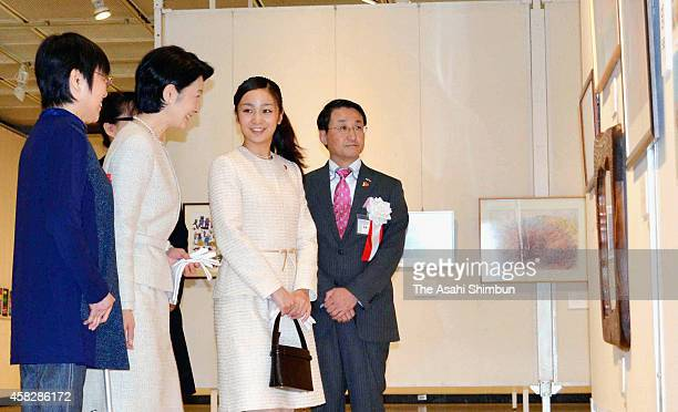 Princess Kiko and Kako of Akishino attend the art and cultural festival for the disabled on November 1 2014 in Tottori Japan