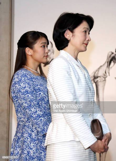 Princess Kiko and Princess Mako of Akishino visit the 'TREASURES of the Natural World Best of London's Natural History Museum' exhibition at the...