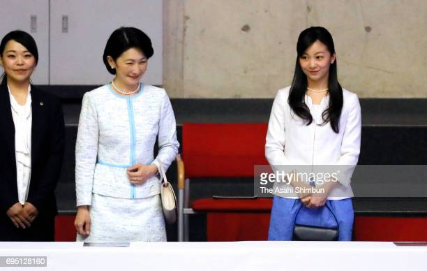 Princess Kiko of Akishino and her second daughter Kako attend the 'Doremifa Dance Concert' at Tokyo Metropolitan Gymnasium on June 10 2017 in Tokyo...