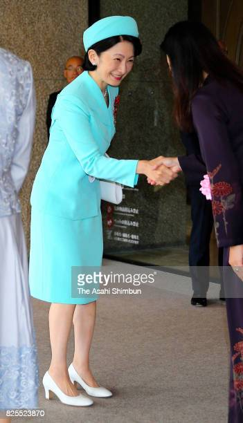 Princess Kiko of Akishino is seen on arrival to attend the Florence Nightingale Medal Ceremony on August 2 2017 in Tokyo Japan