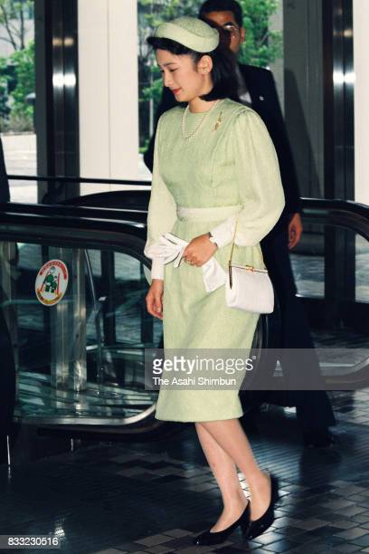 Princess Kiko of Akishino is seen prior to the 'Kikuei Shinbokukai' meeting of the royal family members and cedeced royal family members on April 24...