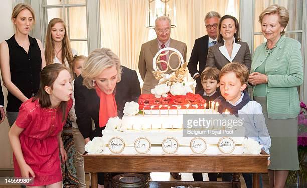 Princess Laetitia Maria Princess Maria Laura Princess Astrid King Albert Prince Laurent Princess Claire Prince Aymeric and Prince Nicolas of Belgium...