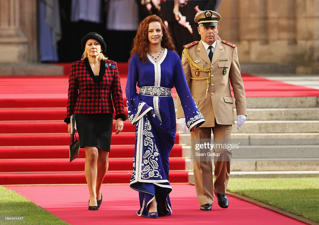 Princess Lalla Salma of Maroc is seen after the wedding ceremony of Prince Guillaume Of Luxembourg and Princess Stephanie of Luxembourg at the Cathedral of our Lady of Luxembourg on October 20, 2012 in Luxembourg, Luxembourg. The 30-year-old hereditary Grand Duke of Luxembourg is the last hereditary Prince in Europe to get married, marrying his 28-year old Belgian Countess bride in a lavish 2-day ceremony.