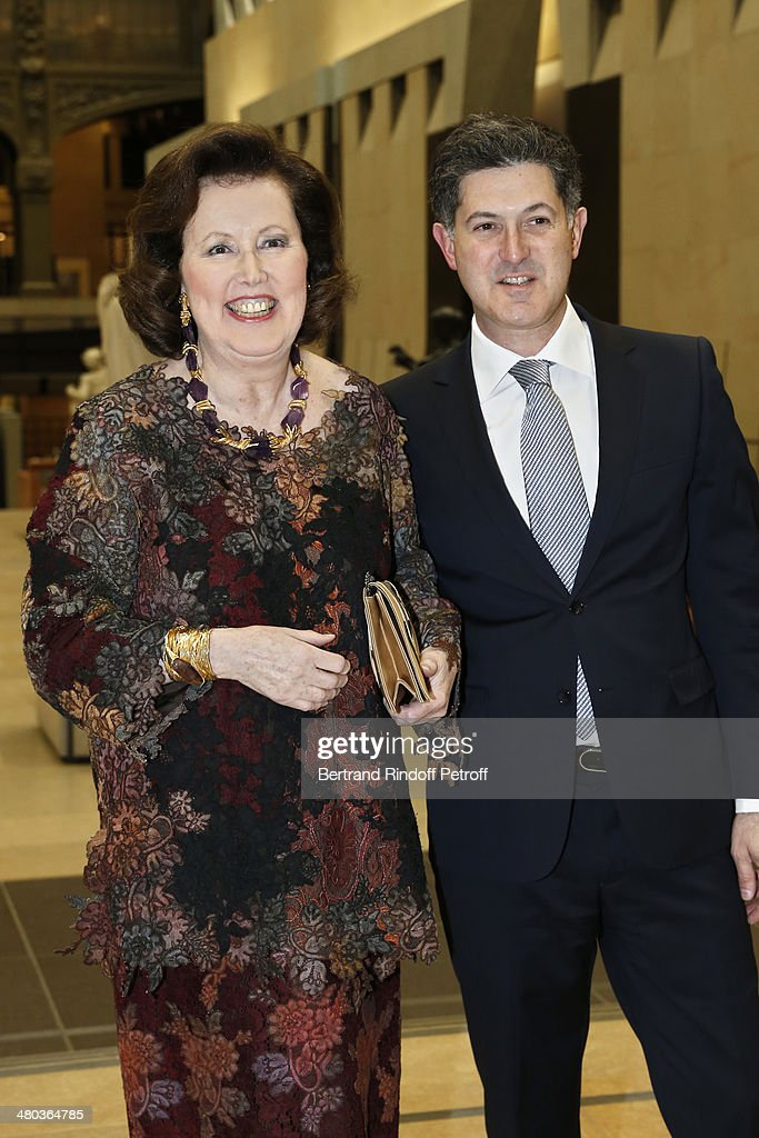 Princess Laure de Beauvau Craon (L) and Pierre Mothes, Vice President, Head of Business Development at Sotheby's France, attends the dinner party of the Societe Des Amis Du Musee D'Orsay (The Friends of Orsay Museum Society) at Musee d'Orsay on March 24, 2014 in Paris, France.