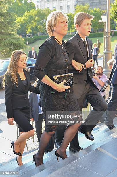 Princess Laurentian of the Netherlands and Miriam de Ungria attend the memorial service for Prince Kardam of Bulgaria at San Jeronimo el Real church...