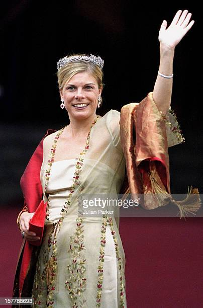 Princess Laurentien Of Holland Attends The Wedding Of Crown Prince Haakon Of Norway MetteMarit In Oslo