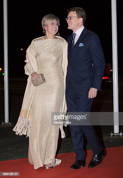 Princess Laurentien of The Netherlands and Prince Constantijn of The Netherlands attends a celebration of the reign of Princess Beatrix on February 1...