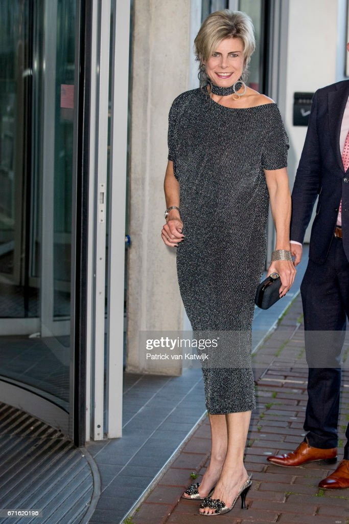 Princess Laurentien of The Netherlands arrives at the Muziekgebouw Aan't IJ for the World Press Photo Award ceremony on April 22, 2017 in Amsterdam, Netherlands.