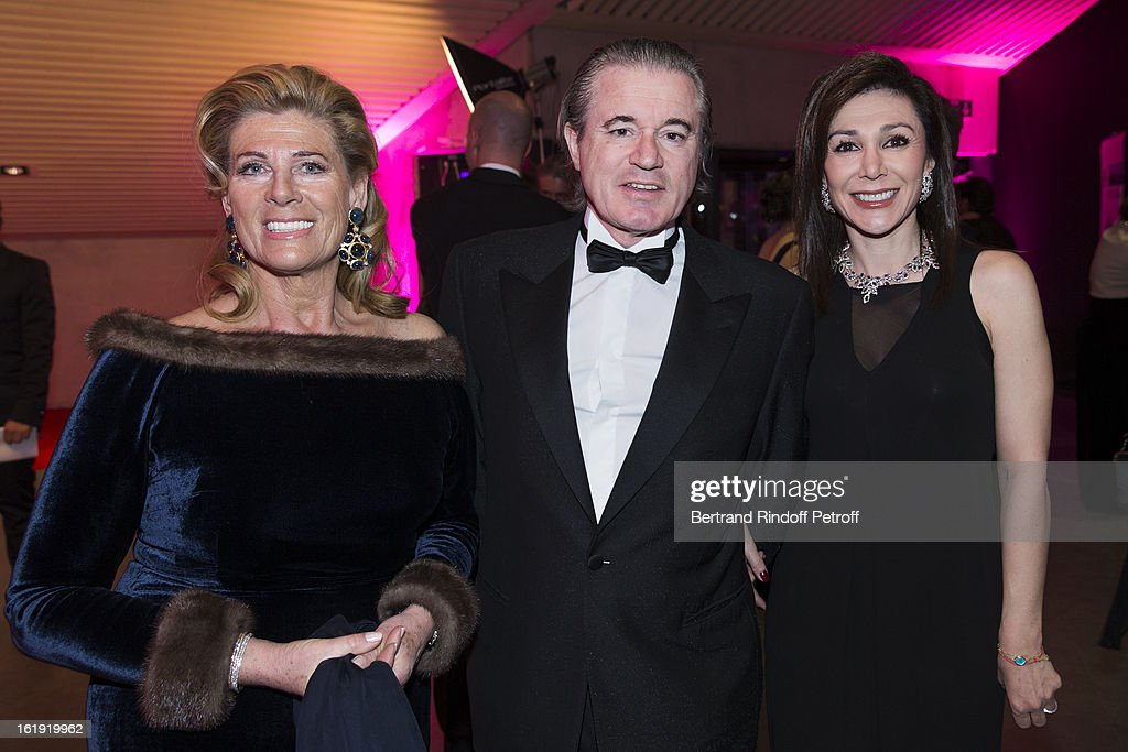 Princess Lea of Belgium, acting as honorary chairperson of the event, Christian Barras, committee member of the foundation, and his wife Linda Barras, President of the event, attend the 30th edition of 'La Nuit Des Neiges' Charity Gala on February 16, 2013 in Crans-Montana, Switzerland.