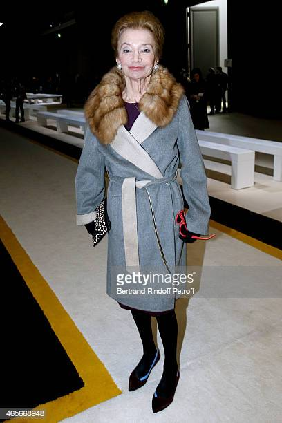 Princess Lee Radziwill attends the Giambattista Valli show as part of the Paris Fashion Week Womenswear Fall/Winter 2015/2016 on March 9 2015 in...
