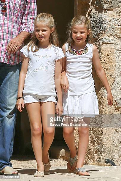 Princess Leonor and Princess Sofia visit Tramuntana Mountains on August 11 2014 in Palma de Mallorca Spain