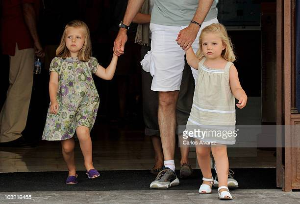 Princess Leonor of Spain and Princess Sofia of Spain at the Real Club Nautico de Palma during the 29th Copa del Rey Audi Sailing Cup on August 3 2010...