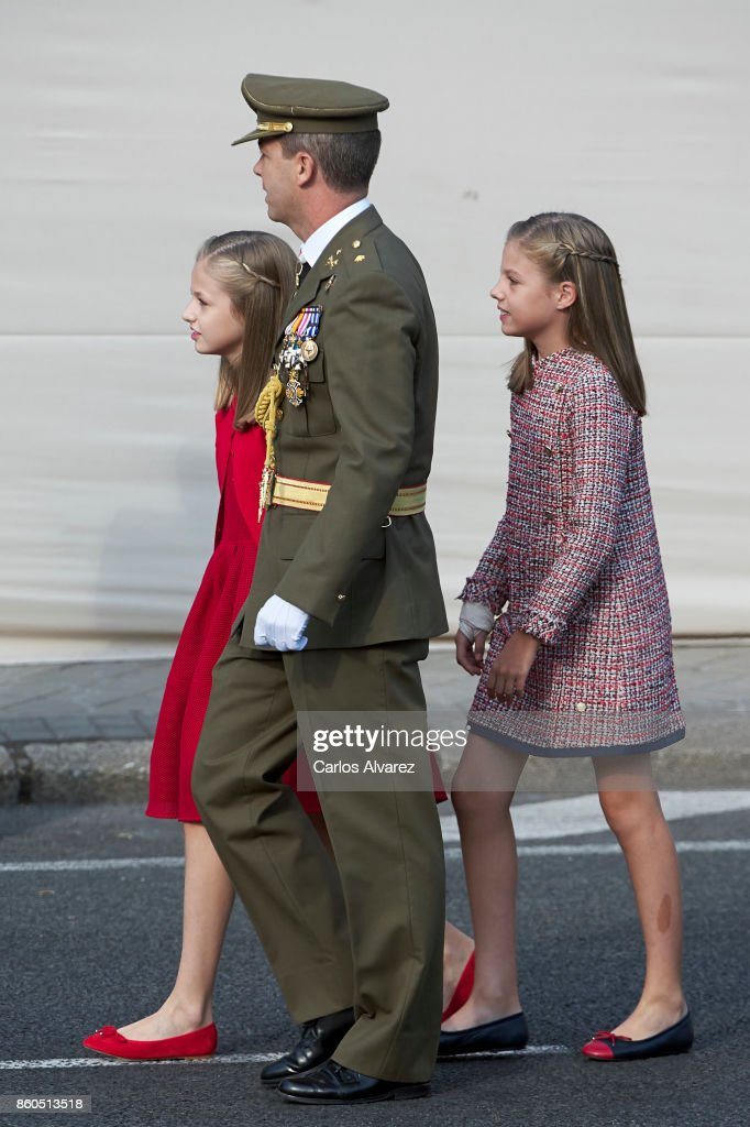princess-leonor-of-spain-and-princess-sofia-of-spain-attend-the-day-picture-id860513518