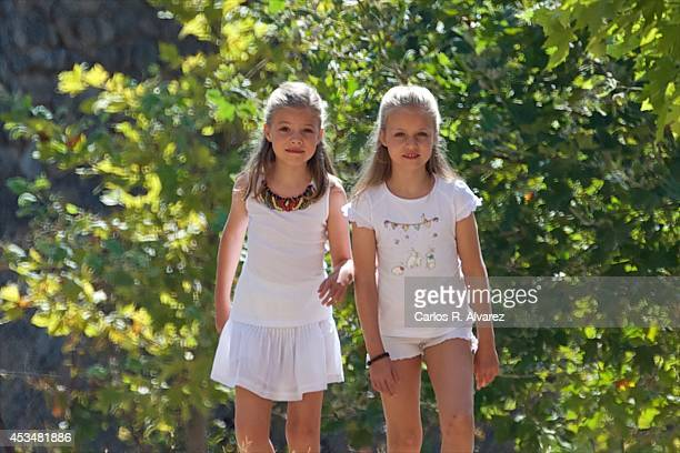 Princess Leonor of Spain and Princess Sofia of Spain visit 'Sierra de Tramuntana' declared a World Heritage Site by UNESCO on August 11 2014 in Palma...