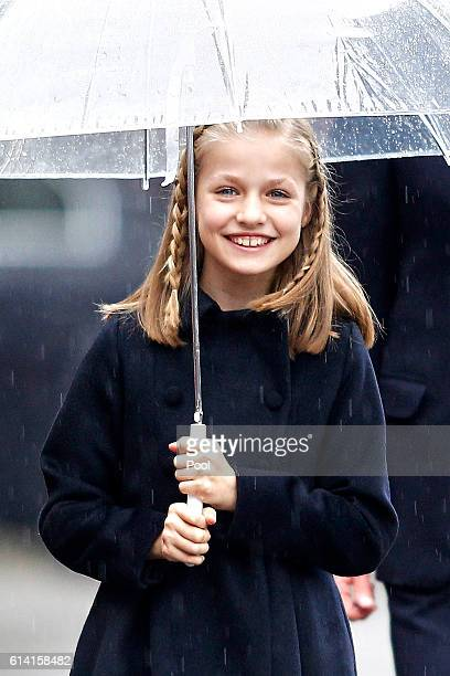 Princess Leonor of Spain attends the National Day military parade on October 12 2016 in Madrid Spain