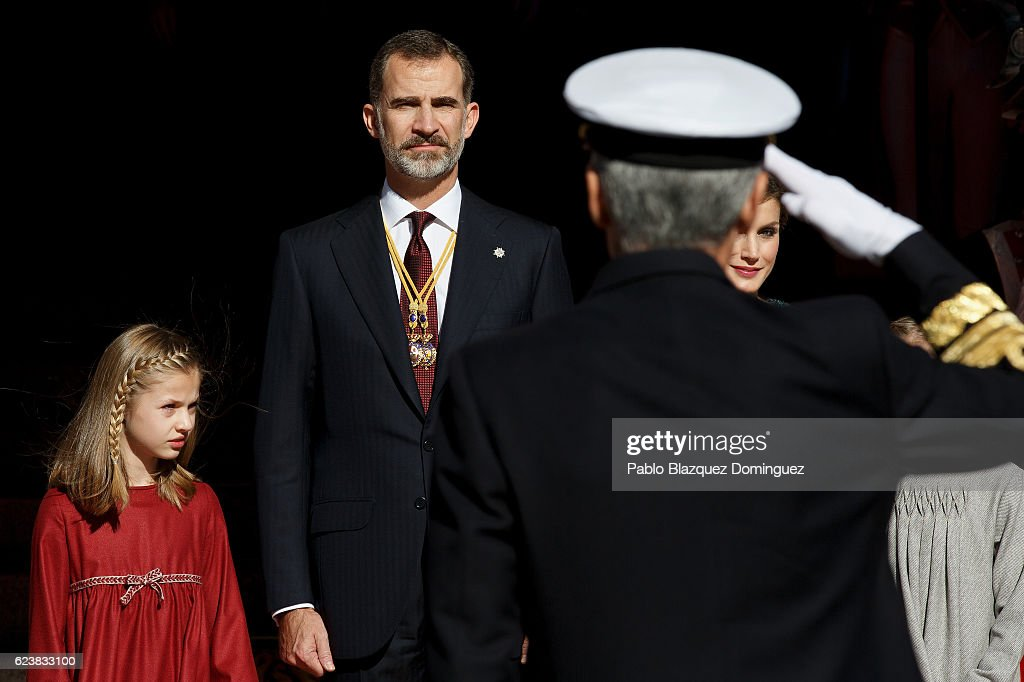 Spanish Royals Attend the 12th Legislative Sessions Opening