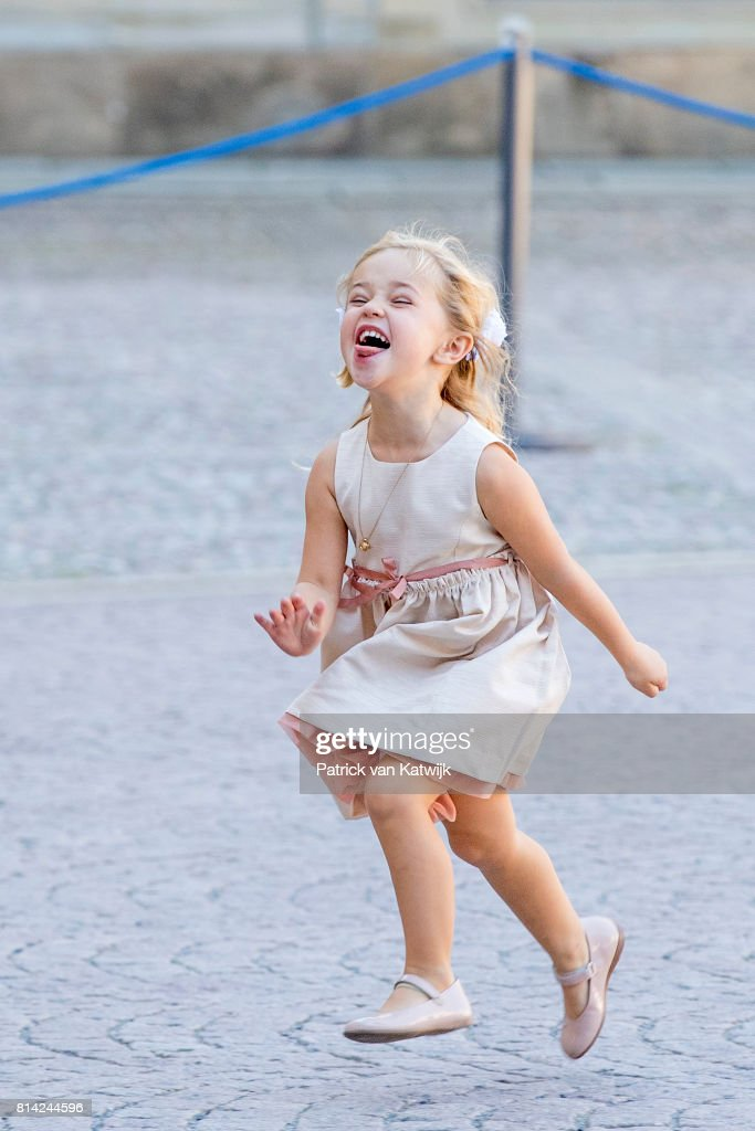 Princess Leonore of Sweden after the thanksgiving service on the occasion of The Crown Princess Victoria of Sweden's 40th birthday celebrations at the Royal Palace on July 14, 2017 in Stockholm, Sweden.