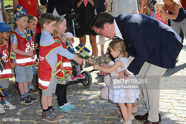 Princess Leonore of Sweden and Christopher O'Neill are seen visiting Gotland Museum on June 3 2016 in Gotland Sweden Duchess Leonore meets her horse...