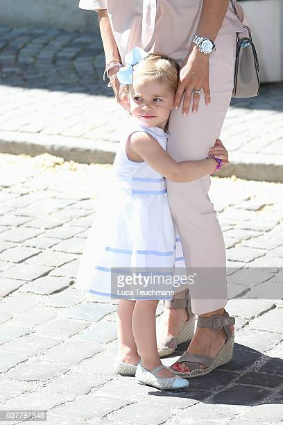 Princess Leonore of Sweden is seen visiting Gotland Museum on June 3 2016 in Gotland Sweden Duchess Leonore meets her horse Haidi of Gotland for the...