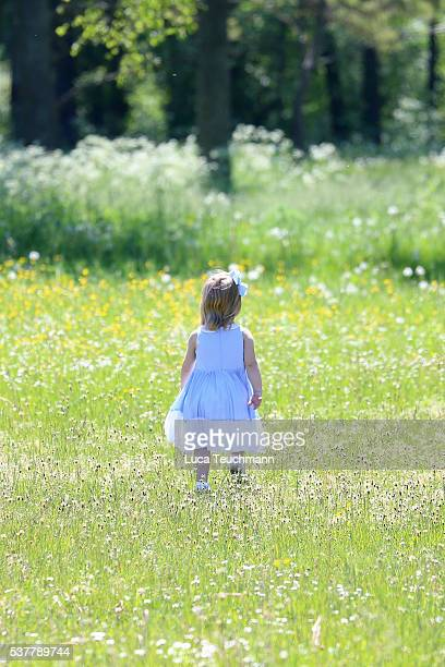 Princess Leonore of Sweden seen visiting the stables on June 3 2016 in Gotland Sweden Duchess Leonore will meet her horse Haidi of Gotland for the...