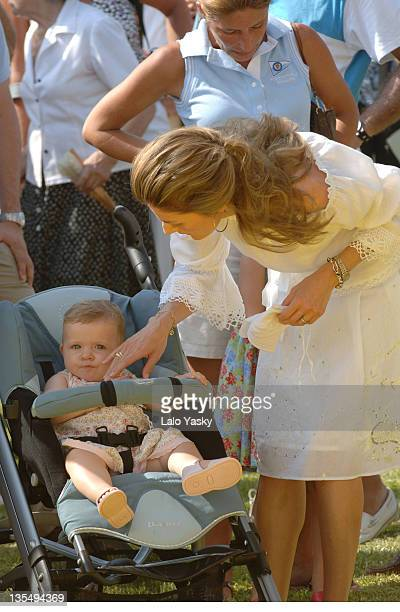 Princess Letizia and Baby Leonor during Royals at the Awards Ceremony for the 2006 Edition of the Breitling Sailing Trophy at Puerto Portals in...