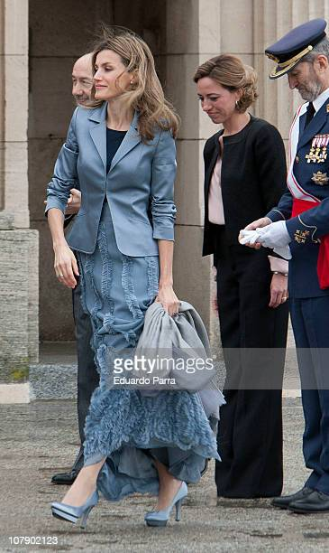 Princess Letizia and Carme Chacon attend the Pascua Military ceremony at Royal Palace on January 6 2011 in Madrid Spain