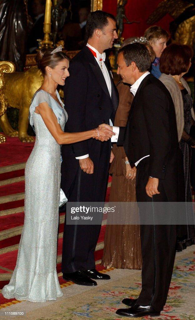 Spanish Royals Receive Czech President Vaclav Klaus And Wife Livia Klausova for