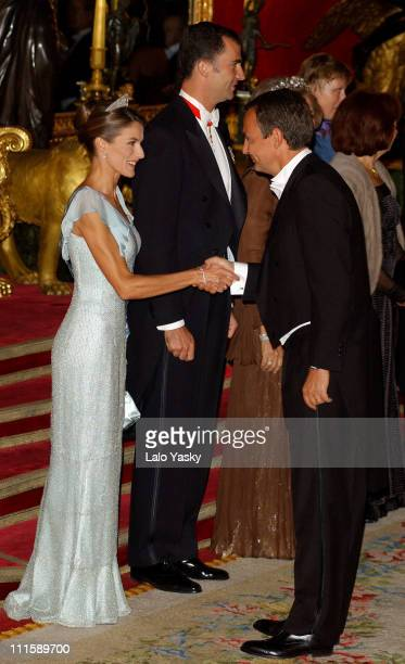 Princess Letizia and Spain's Prime Minister Rodriguez Zapatero