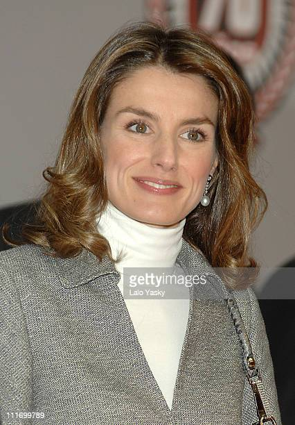 HRH Princess Letizia attends 70th anniversary lunch for sports newspaper Marca at Edificio de Correos on December 21 2007 in Madrid Spain