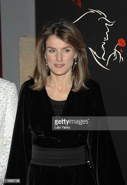 HRH Princess Letizia attends 'Beauty and the Beast' benefit performance at the Coliseum Theatre on December 14 2007 in Madrid Spain