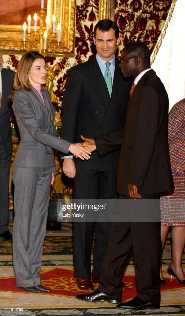 Princess Letizia, Crown Prince Felipe and Senegalese President <a gi-track='captionPersonalityLinkClicked' href=/galleries/search?phrase=Abdoulaye+Wade&family=editorial&specificpeople=209316 ng-click='$event.stopPropagation()'>Abdoulaye Wade</a>